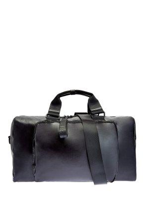 Дорожная сумка из прочного нейлона с плечевым ремнем BIKKEMBERGS. Цвет: черный