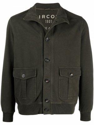 Легкая куртка с карманами Circolo 1901. Цвет: зеленый