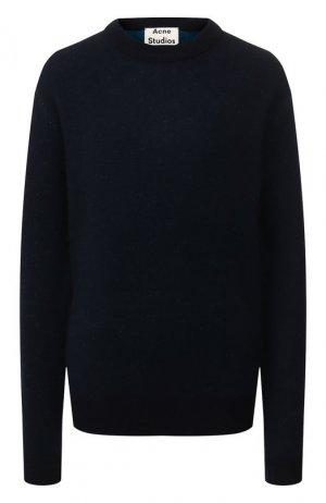 Кашемировый пуловер Acne Studios. Цвет: синий