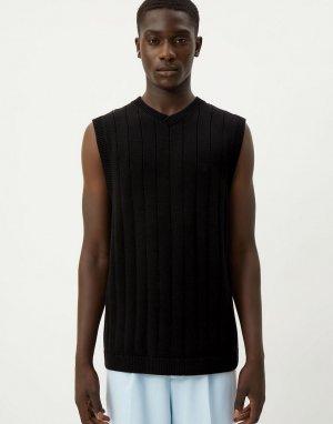 Черный жилет в стиле oversized Karl-Черный цвет Weekday