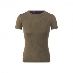 Шелковая футболка Ralph Lauren. Цвет: зелёный