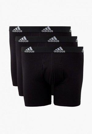 Трусы 3 шт. adidas BOS BRIEF 3PP. Цвет: черный