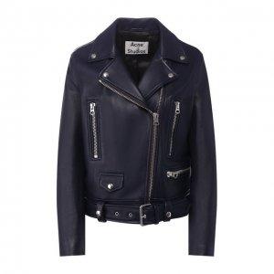 Кожаная куртка Acne Studios. Цвет: синий