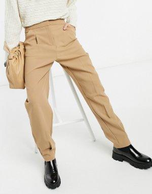 Классические брюки бежевого цвета -Бежевый Closet London