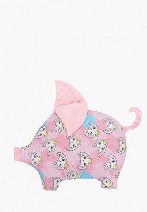 Подушка Крошка Я Мистер Хрю. Цвет: розовый