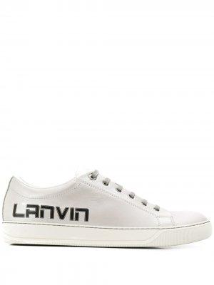 Кеды с логотипом LANVIN. Цвет: серебристый