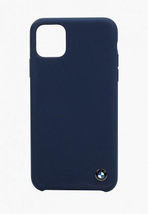 Чехол для iPhone BMW 11 Pro Max, Signature Liquid silicone Navy. Цвет: синий