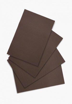 Комплект салфеток сервировочных DeNastia Талисман. Цвет: коричневый