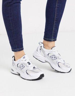 Белые кроссовки New Balance 530-Белый