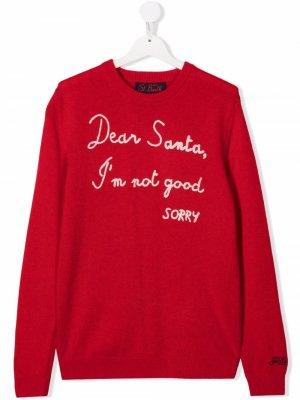Джемпер Dear Santa MC2 Saint Barth Kids. Цвет: красный