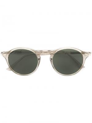 Tods затемненные солнцезащитные очки в круглой оправе Tod's. Цвет: зеленый