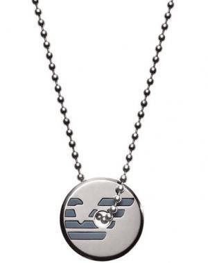 Ожерелье EMPORIO ARMANI. Цвет: свинцово-серый