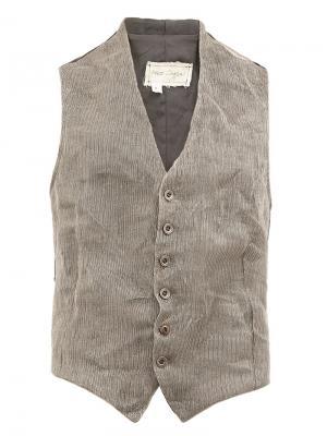 Metal knit waistcoat Greg Lauren. Цвет: серый