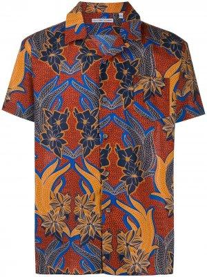 Рубашка с цветочным принтом Grey Daniele Alessandrini. Цвет: красный