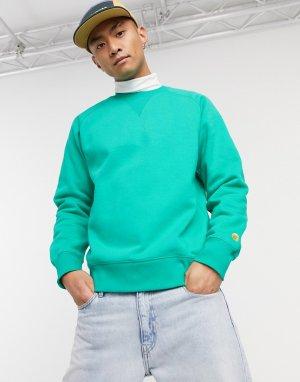 Зелено-золотистый свитер -Зеленый Carhartt WIP