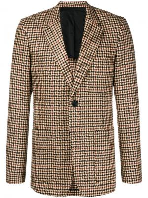 Пиджак на двух пуговицах с частичной подкладкой AMI Paris. Цвет: коричневый