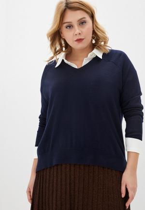 Пуловер Persona by Marina Rinaldi ALTURA. Цвет: синий