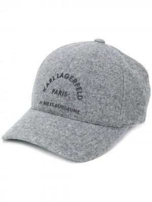 Logo-print felt cap Karl Lagerfeld. Цвет: серый