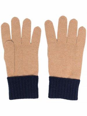 Кашемировые перчатки в двух тонах Eleventy. Цвет: нейтральные цвета