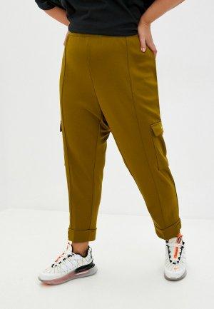 Брюки Nike W NSW SWSH PANT PK PLUS. Цвет: хаки