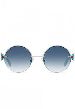 Солнцезащитные очки FENDI. Цвет: голубой