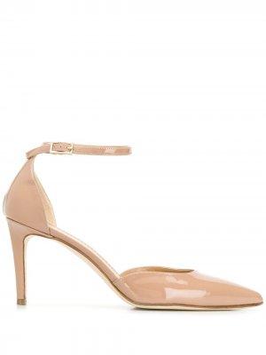 Туфли с заостренным носком и ремешком на щиколотке Antonio Barbato. Цвет: нейтральные цвета