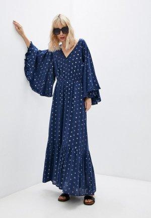 Платье пляжное Pilyq. Цвет: синий