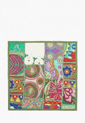 Наволочка декоративная Just Beauty с вышивкой, 40х40 см. Цвет: хаки
