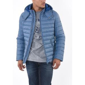 Куртка короткая демисезонная с капюшоном KAPORAL. Цвет: небесно-голубой,черный
