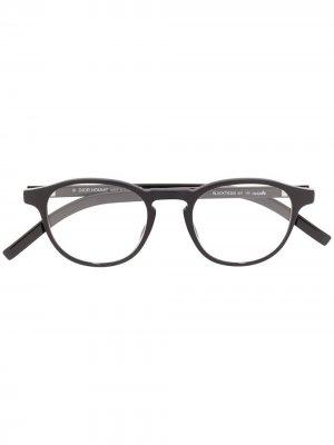 Очки в круглой оправе Dior Eyewear. Цвет: черный