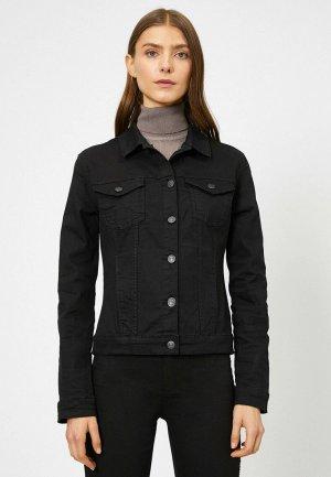 Куртка джинсовая Koton. Цвет: черный