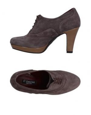 Обувь на шнурках L'AMOUR. Цвет: голубиный серый