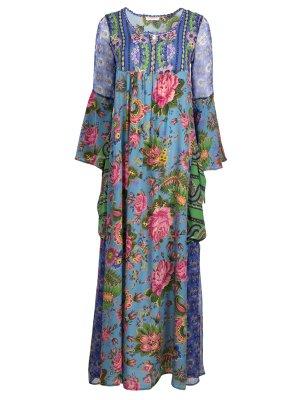 Cassiopea 834an/цветы Синий ANJUNA. Цвет: синий