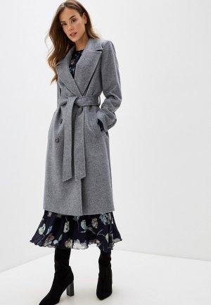 Пальто Marinari. Цвет: серый