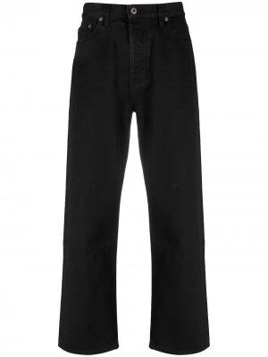Прямые джинсы с логотипом VLTN Valentino. Цвет: черный