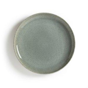 Комплект из плоских тарелок La Redoute. Цвет: зеленый