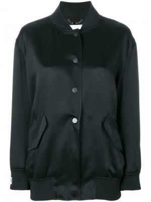 Куртка-бомбер с рисунком логотипом сзади Fendi. Цвет: чёрный