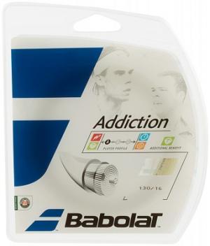 Струна Addiction Babolat. Цвет: белый