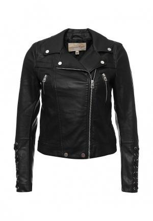 Куртка кожаная Tom Tailor Denim. Цвет: черный