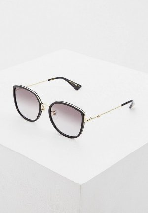 Очки солнцезащитные Gucci GG0606SK 001. Цвет: черный