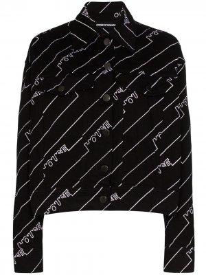 Куртка с логотипом House of Holland. Цвет: черный
