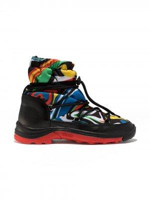 Лыжные ботинки Marble Stella McCartney Kids. Цвет: черный