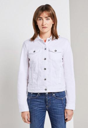 Куртка джинсовая Tom Tailor. Цвет: белый