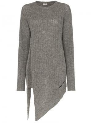 Классический пуловер Miu. Цвет: серый