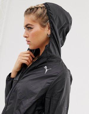 Черная ветровка с капюшоном ignite-Черный Puma