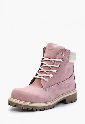 Ботинки Excavator. Цвет: розовый