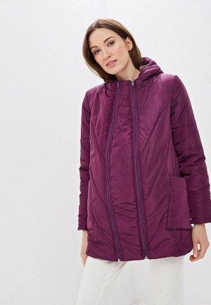 Куртка утепленная Очаровательная Адель. Цвет: бордовый
