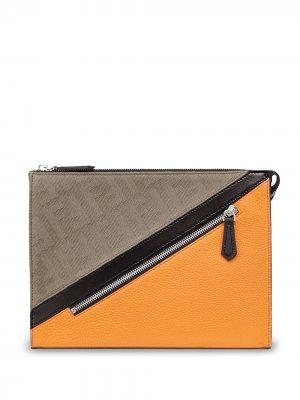 Клатч в стиле колор-блок Fendi. Цвет: нейтральные цвета
