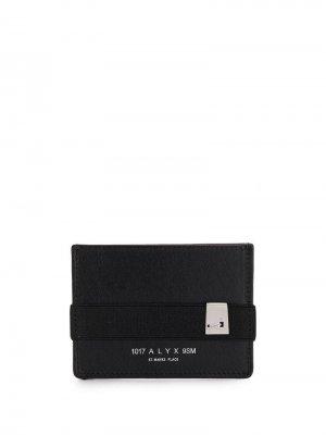 Кошелек с прорезным карманом и логотипом 1017 ALYX 9SM. Цвет: черный