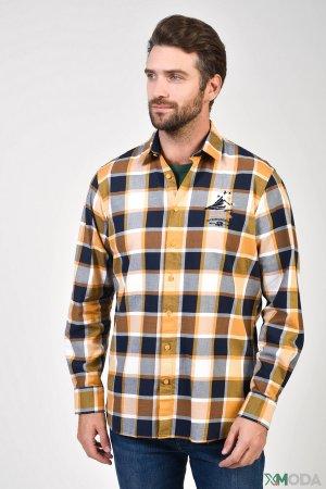 Рубашка с длинным рукавом Marvelis. Цвет: разноцветный